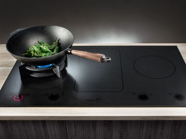 Combined gas and induction hob from ASKO