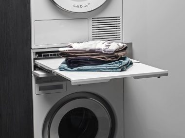 With ASKO's Laundry Care Double you can fold clothes and sort socks, or use it for storage.