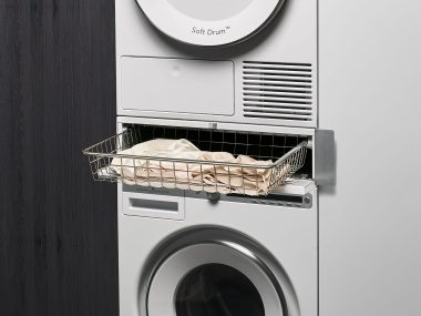 A laundry care basket for your laundry room helps you organise all your clothes.