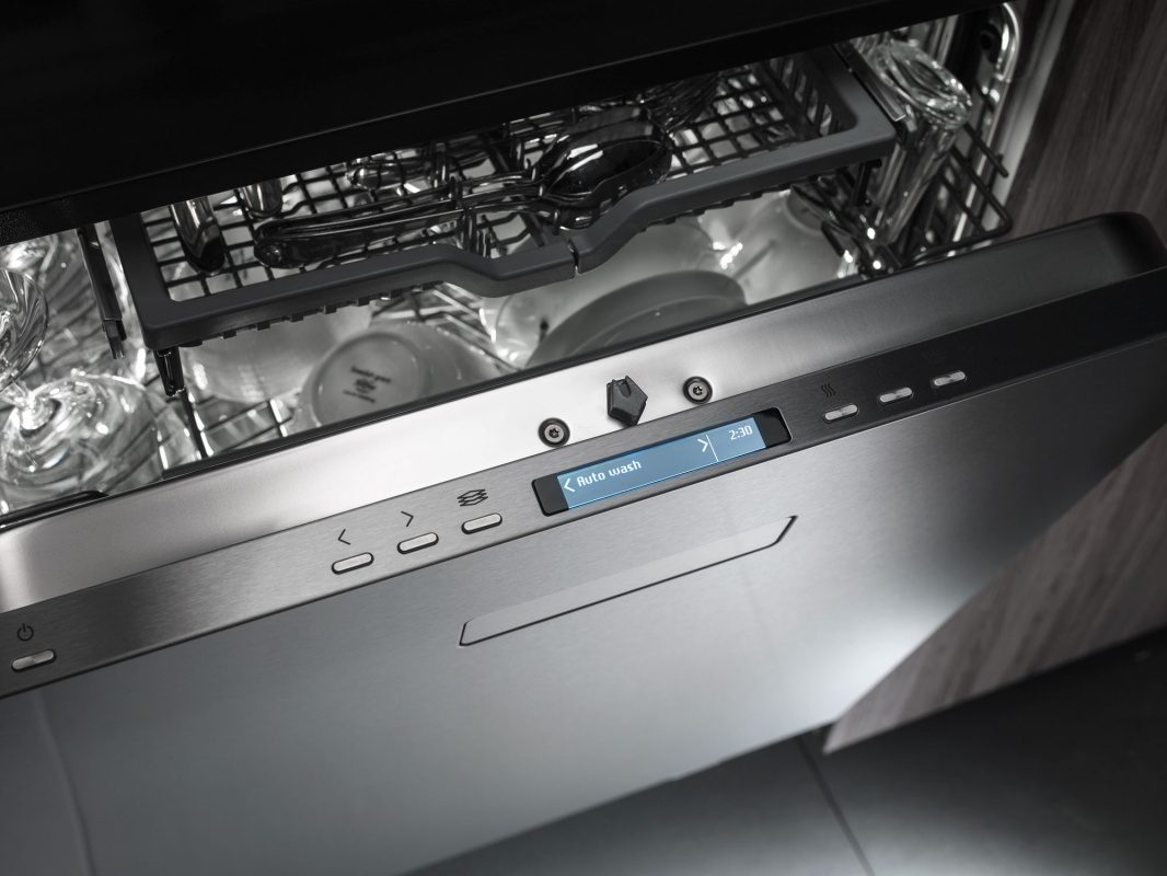 The new generation dishwashers has a true full front with no division between door and panel.