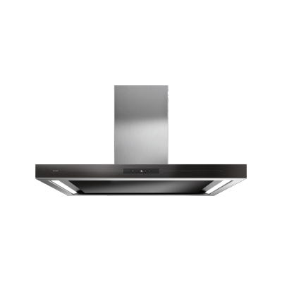 Island mounted cooker hood